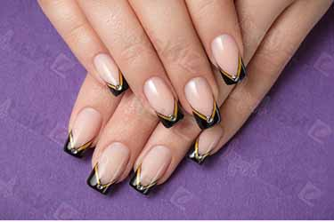 deco ongle en gel simple deco