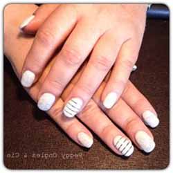 deco ongles gel blanc
