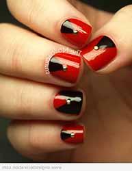 deco ongle noir et rouge