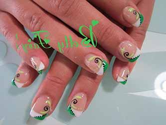 deco ongles vert