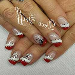 decoration ongle en gel noel deco