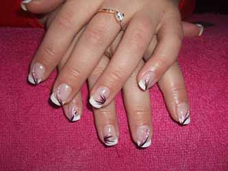 French deco ongle deco - Deco french manucure ...