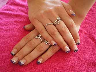 Idee deco ongle french deco - Deco french manucure ...