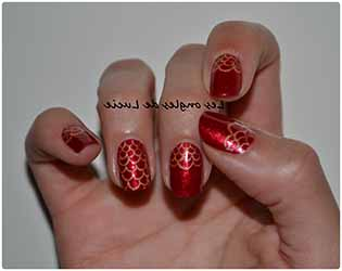 nail art ongle rouge deco. Black Bedroom Furniture Sets. Home Design Ideas
