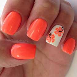 ongle en gel orange