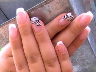 Ongle en gel simple deco - Photo ongle gel ...