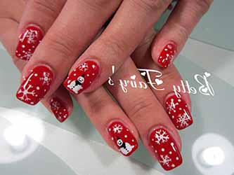 deco ongles en gel noel