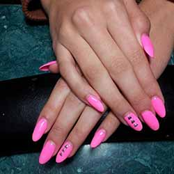 modele ongle en gel rose fluo. Black Bedroom Furniture Sets. Home Design Ideas